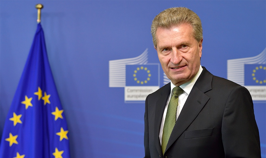 EU-Kommissar Günther Oettinger. Foto: © European Union, 2014
