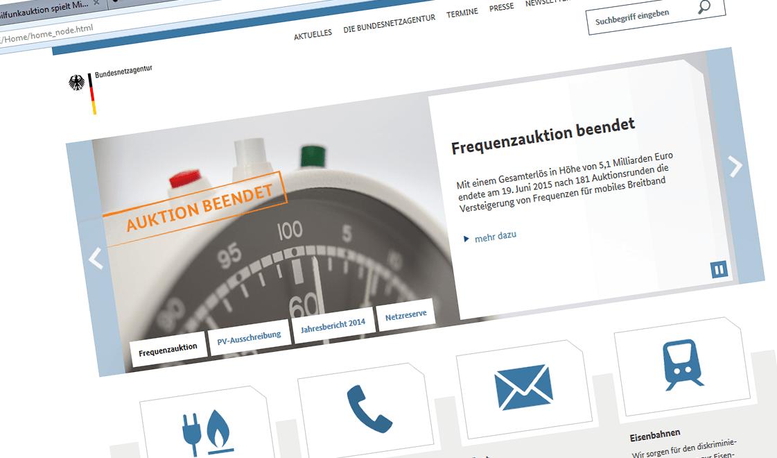 Website BNetzA