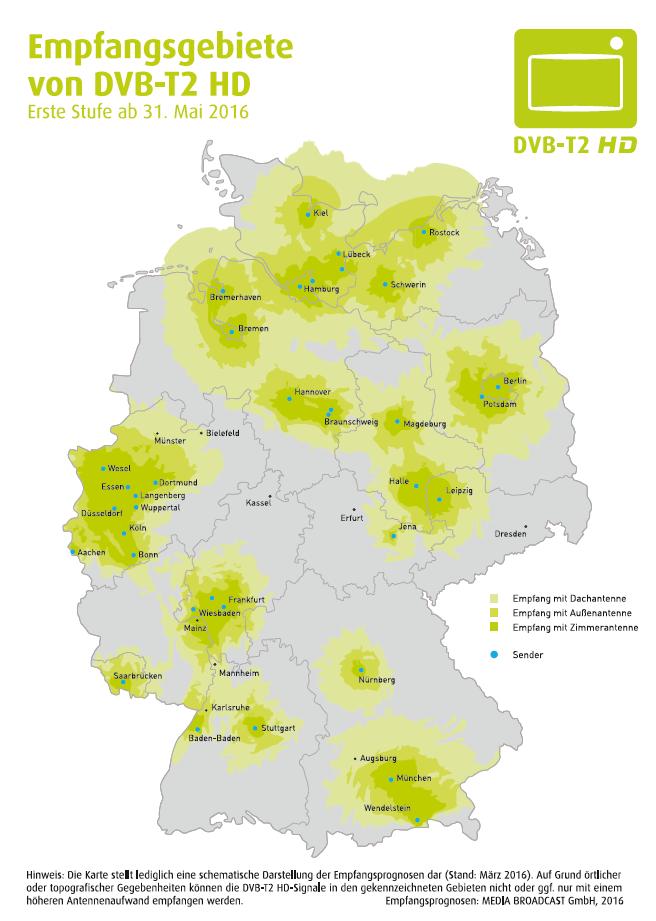 Karte DVB-T2 Media Broadcast